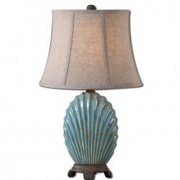 Seashell Blue Buffet Lamp 29321