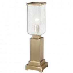 Vinchio Crackled Glass Hurricane Lamp 29949-1