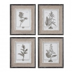 Casual Grey Study Framed Art Set/4 32510