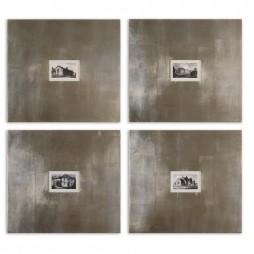 Historical Buildings Framed Art Set/4 41295