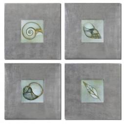 Neptunes Garden Framed Art Set/4 41372