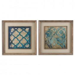 Stained Glass Indigo Art Set/2 41512