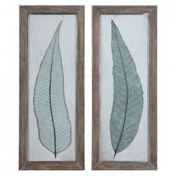 Tall Leaves Framed Art Set/2 41514