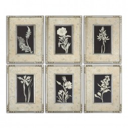 Glowing Florals Framed Art