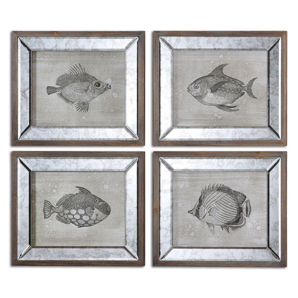 Mirrored framed art