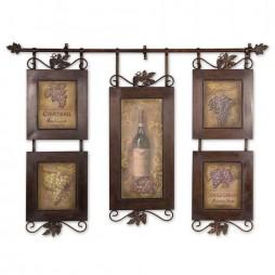 Hanging Wine Wall Decor 50791