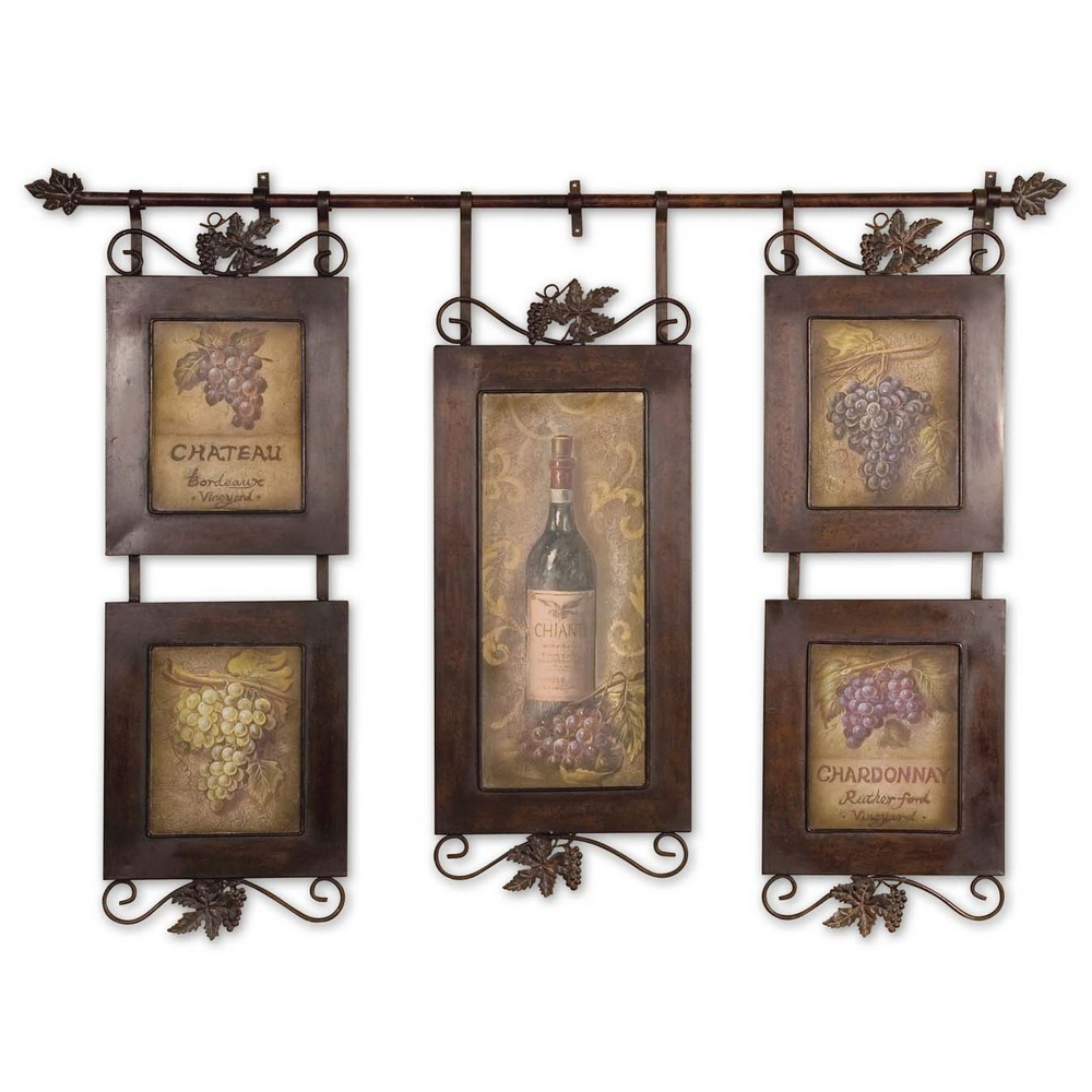 Wall Decor And Accessories : Decorative accessories wall art uttermost hanging wine