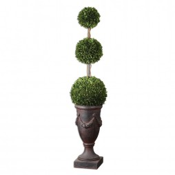 Triple Topiary Preserved Boxwood 60093