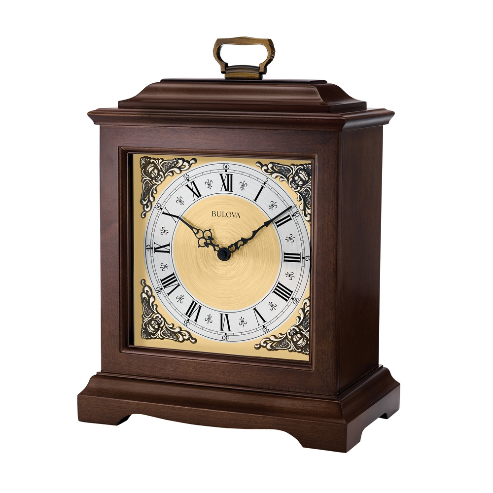 Bulova chiming mantel quartz clock