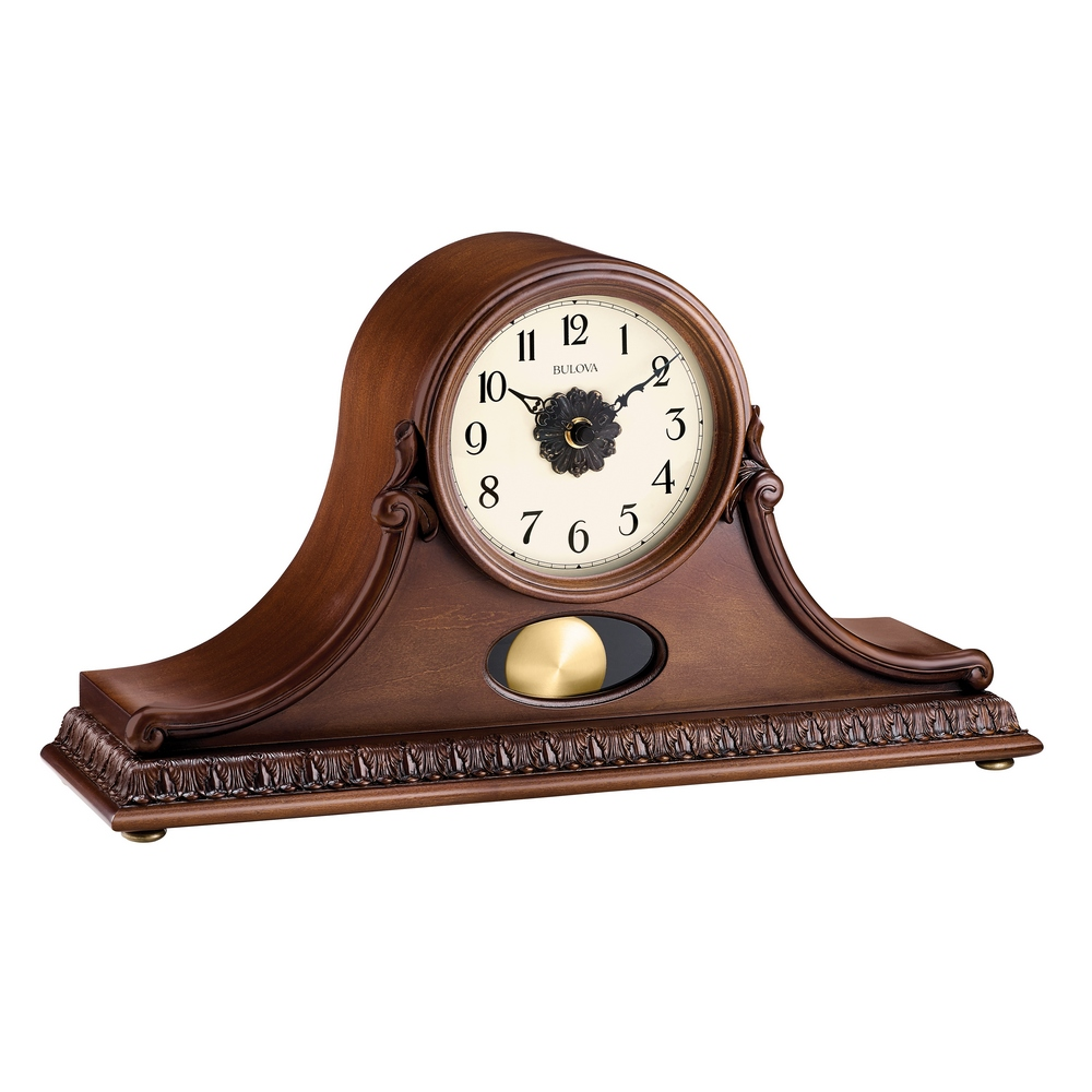 Personalized gifts engravable clocks hyde park tambour chiming mantel clock bulova b1513 amipublicfo Images