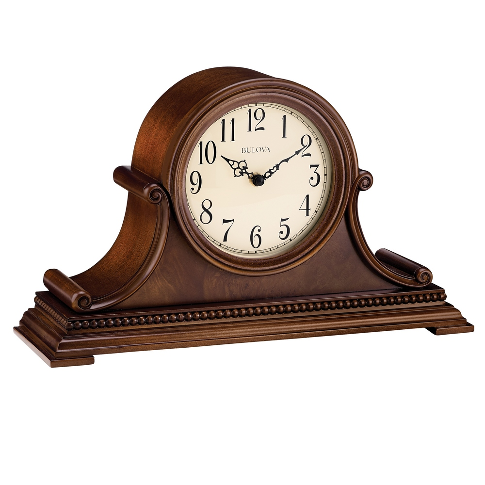 Asheville Tambour Chiming Mantel Clock Bulova B1514