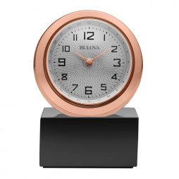 Bulova Sphere Engravable Table Clock B5015