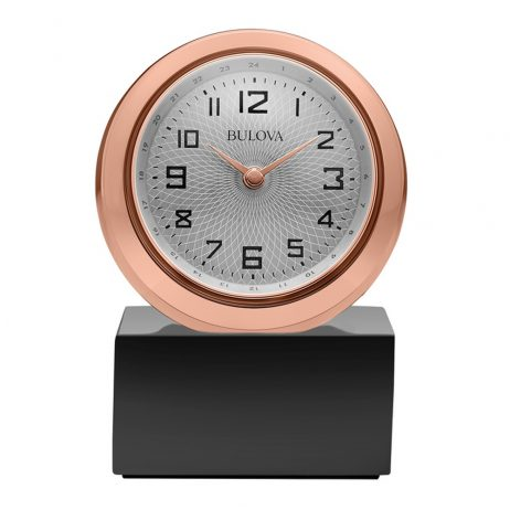 Bulova Sphere Engravable Table Clock B5015