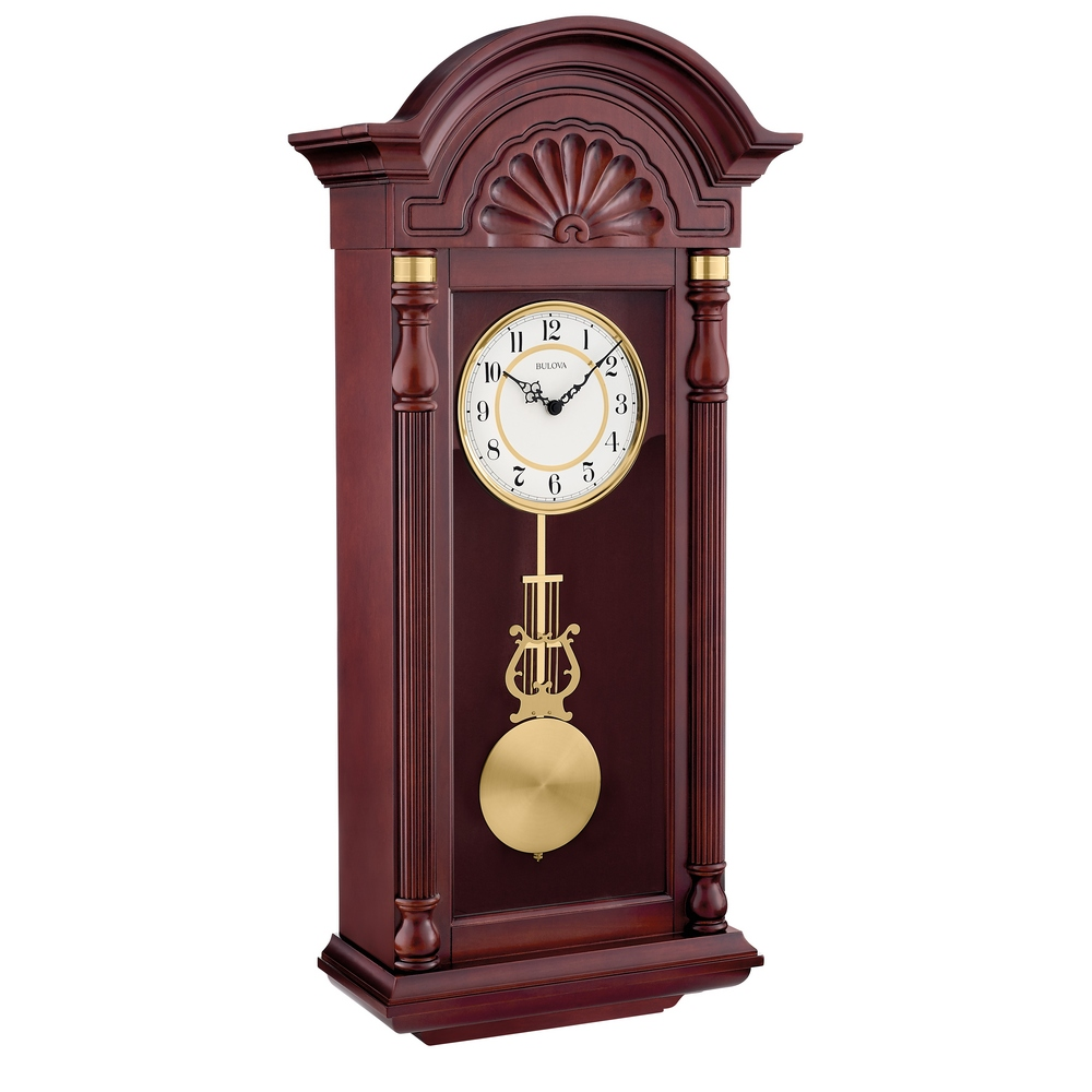 Pendulum wall clock howard miller hermle bulova clockshops new yorker triple chiming pendulum wall clock c1516 amipublicfo Choice Image