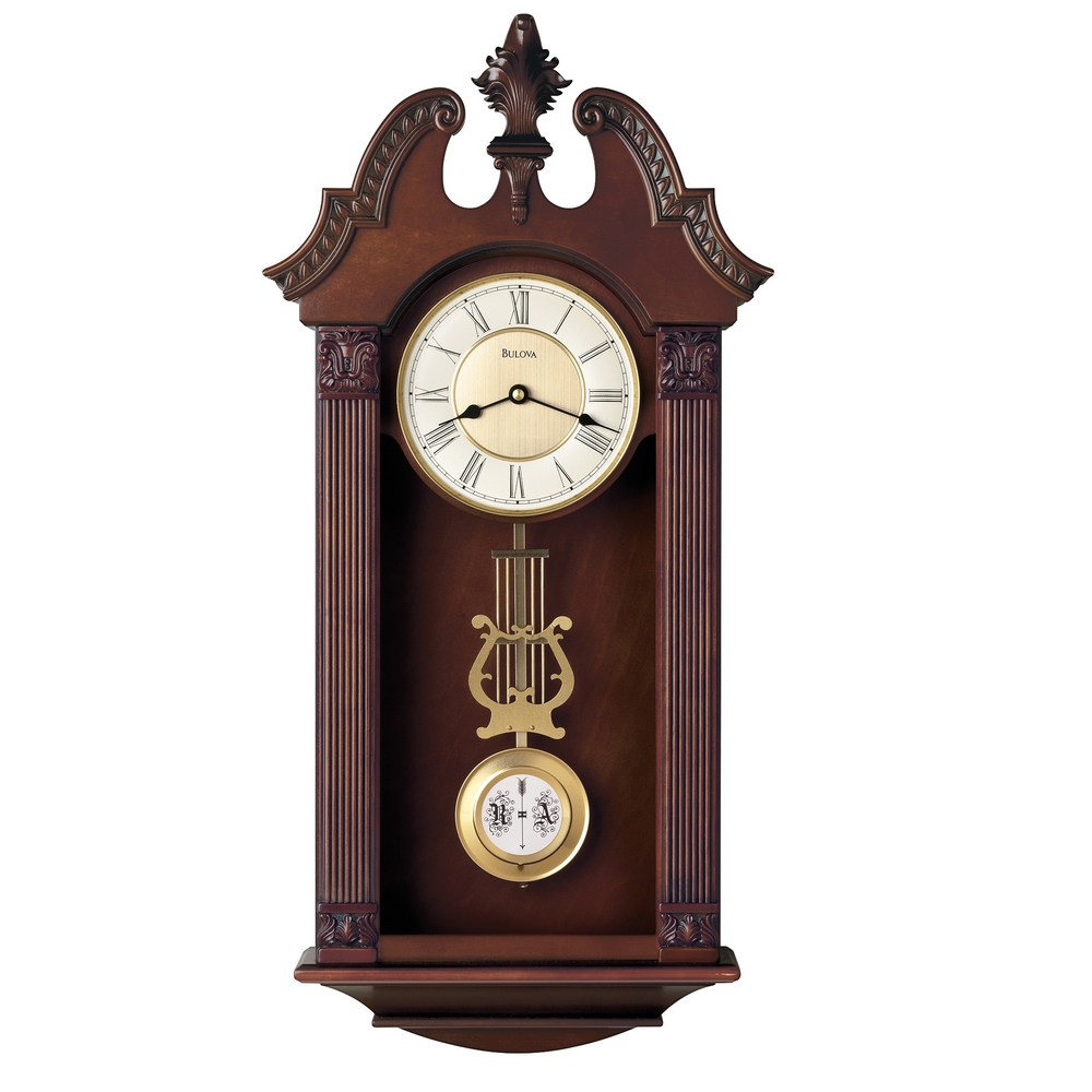 Wall clocks large selection major brands at clock - Wall mounted grandfather clock ...