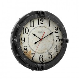 "Navigator 17"" Decorative Wall Clock - Bulova C4823"