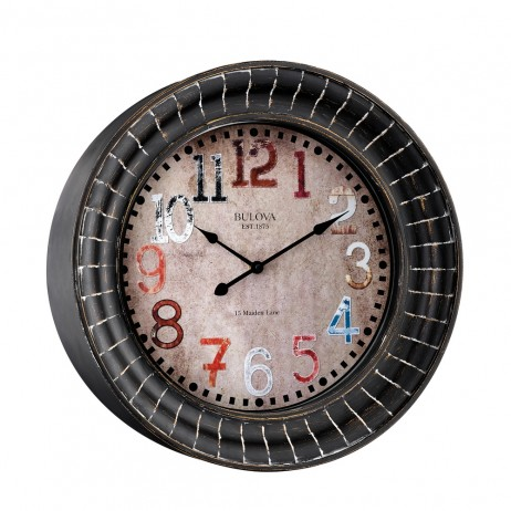 Paris Decorative Wall Clock Bulova C4824
