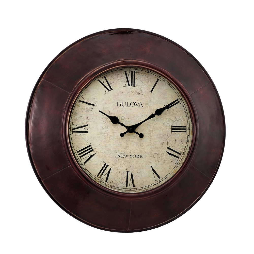 Bulova Watford 18 Quot Decorative Wall Clock C4825
