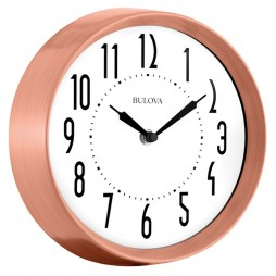 Cleaver Copper Kitchen Wall Clock Bulova C4828
