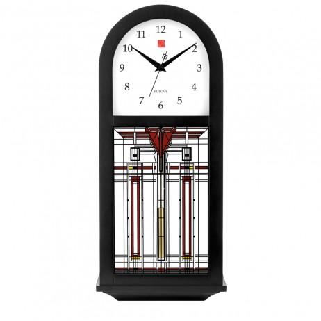Frank Lloyd Wright Harley Bradley Chiming Wall Clock Bulova C4836