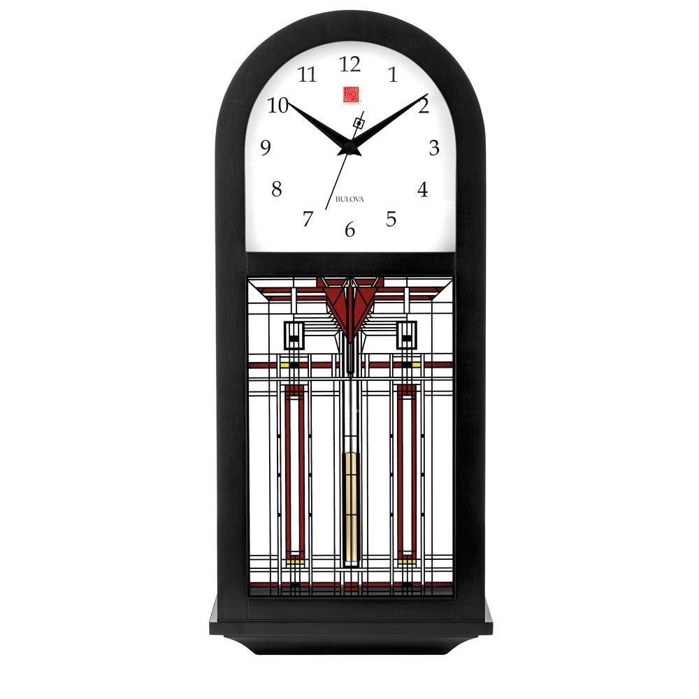 Bulova clocks mantel desk and bulova wall clocks clockshops frank lloyd wright harley bradley wall clock c4836 amipublicfo Image collections