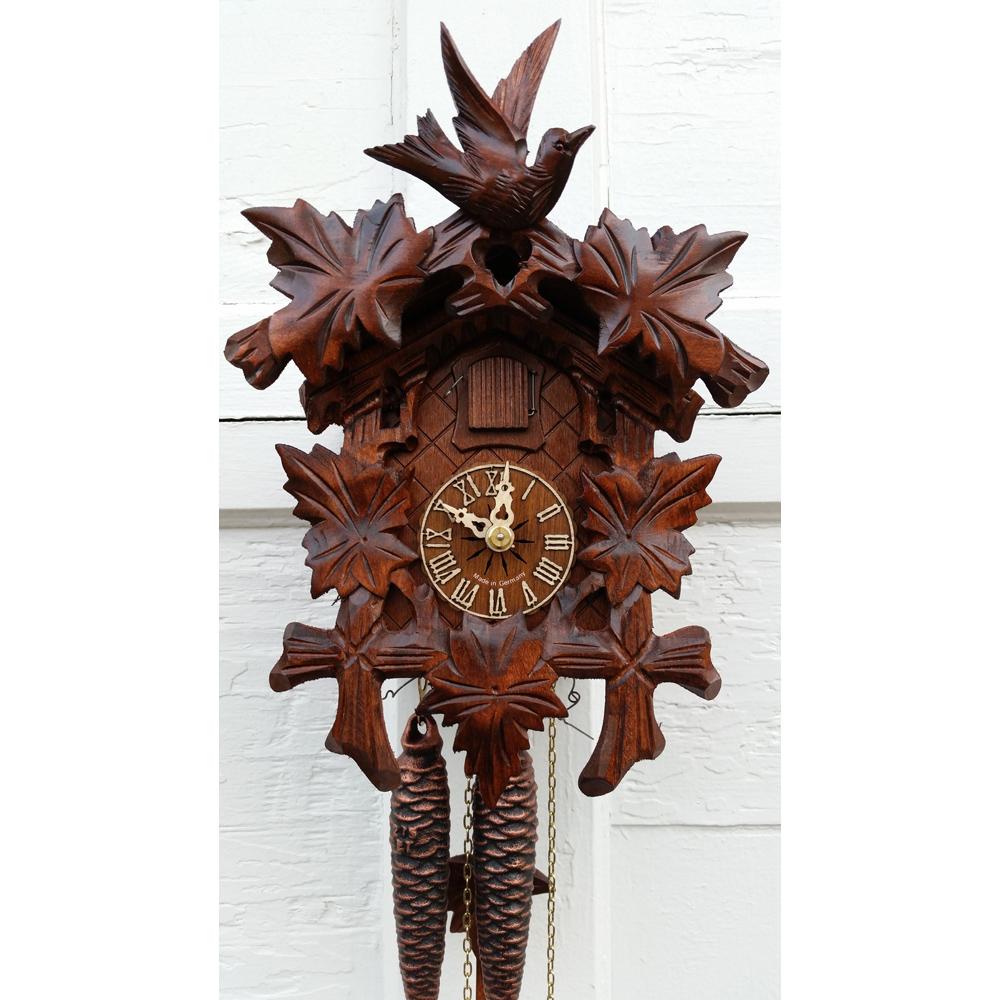 German Hand Carved 1 Day Cuckoo Clock 1209