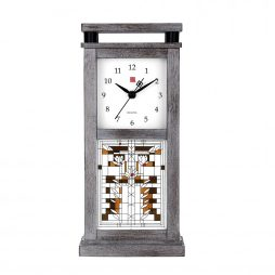 Bulova Frank Lloyd Wright Waterlilies Mantel Clock B4835