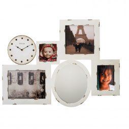Photo Collage Wall Clock and Mirror Bulova C4816
