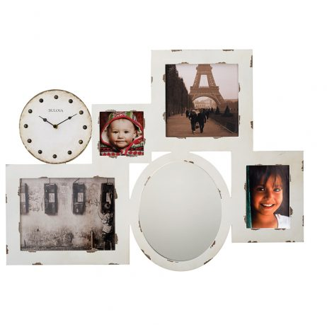 Photo Collage Wall Clock and Mirror Bulova C4816