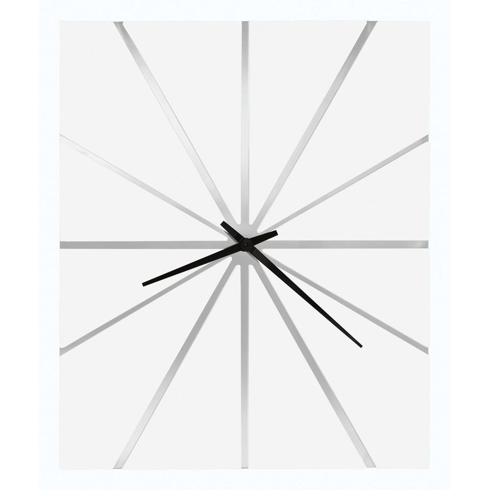 Howard Miller White Oversized Modern Wall Clock 625 616 Zander