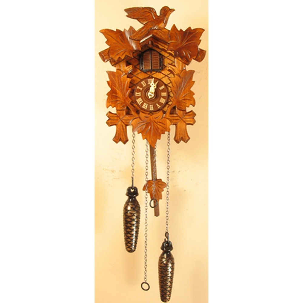 Musical quartz cuckoo clock with hand carved birds 40q - Cuckoo bird clock sound ...