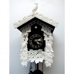 Carved Bone Cuckoo Clock with 8 Day Movement Sternreiter 8226B