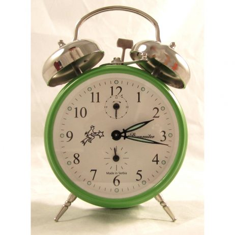 Mechanical Alarm Clock – Sternreiter Double Bell Green MM 111 602 34