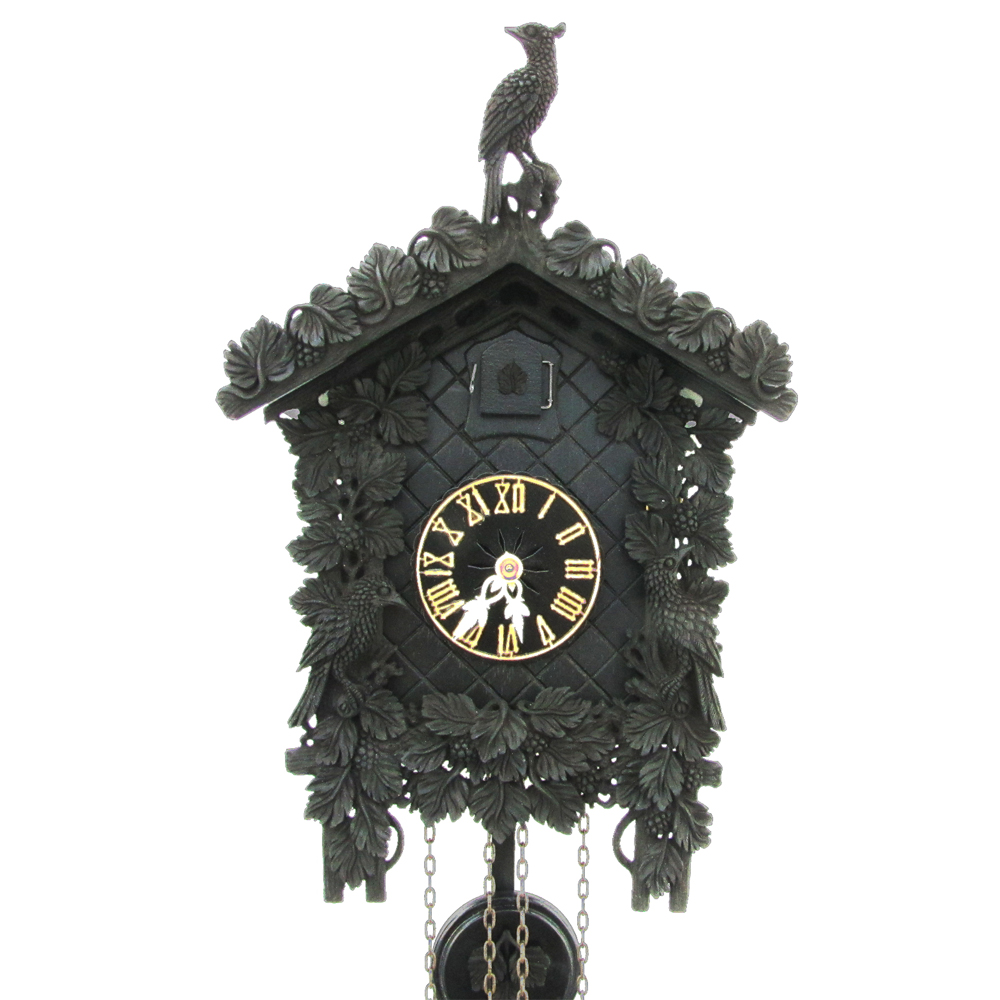 Arabella black arenga wood cuckoo clock with 8 day How to make a cuckoo clock