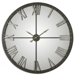 AMELIE LARGE BRONZE WALL CLOCK UTTERMOST 06419