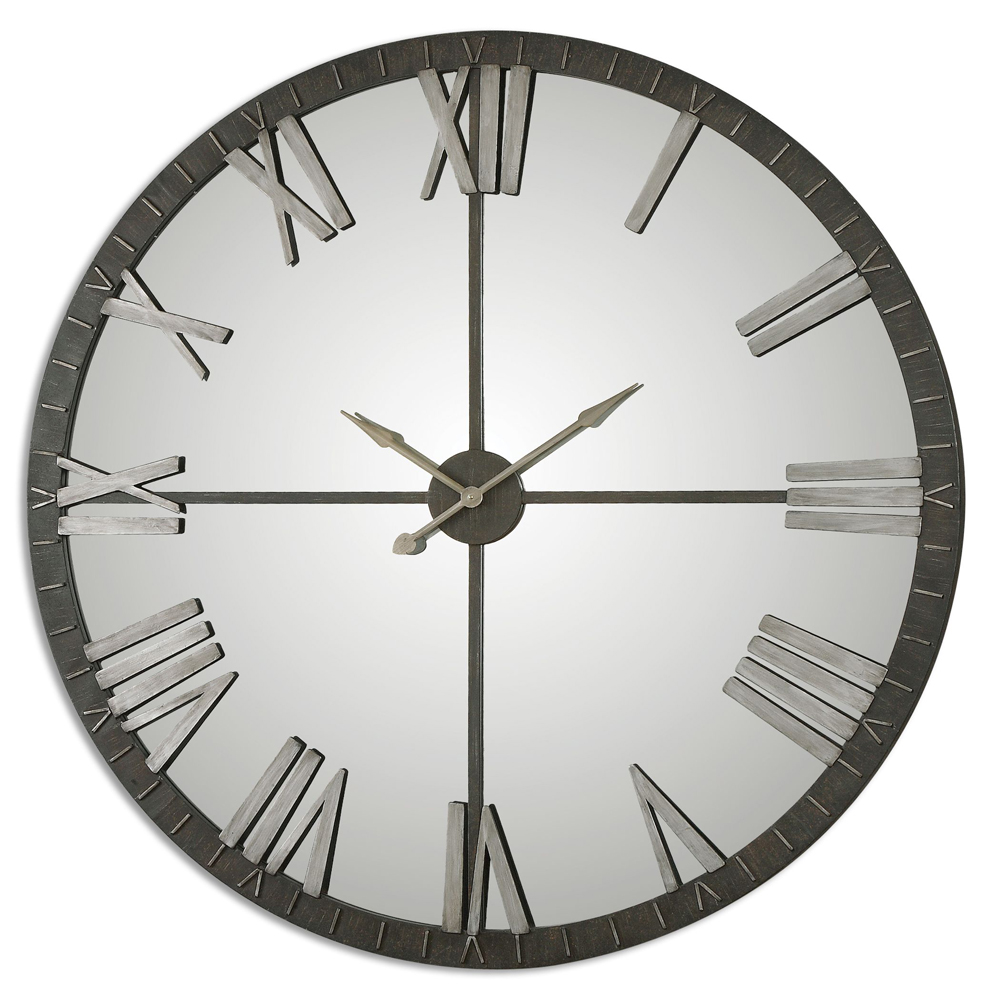 Amelie Oversized Bronze Wall Clock Uttermost 06419