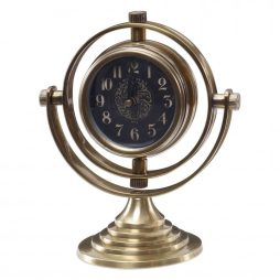Almonzo Brass Table Clock Uttermost 06430