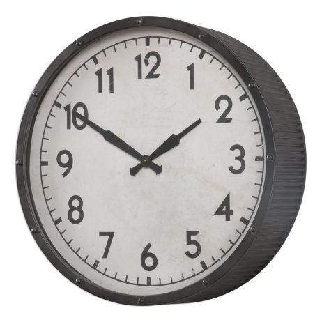 Berta Ivory Wall Clock Uttermost 06434