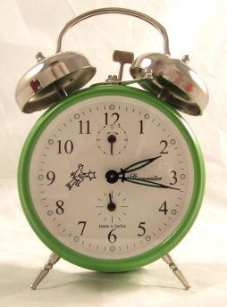 Sternreiter Double Bell Mechanical Alarm Clock - Green MM 111 602 34