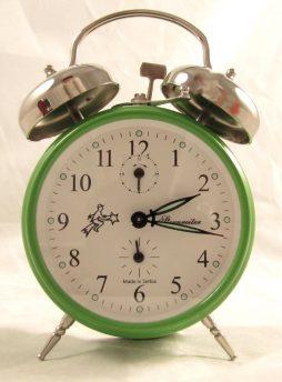 Sternreiter Double Bell Mechanical Alarm Clock - Green MM 111 602 34