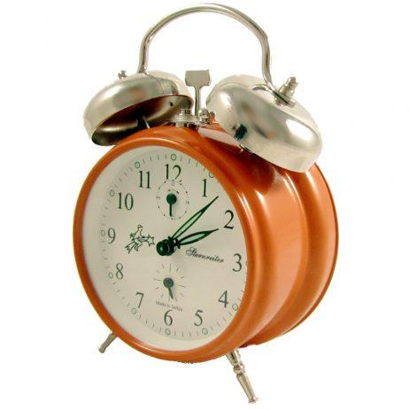 STERNREITER DOUBLE BELL MECHANICAL ALARM CLOCK – Orange MM 111 602 35
