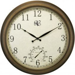 24 Inch Indoor / Outdoor Clock with Time, & Temperature - 1011-24