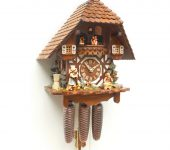 Chalet Cuckoo Clock - Eight Day Musical Movement with Animated Mandolin Player 8316