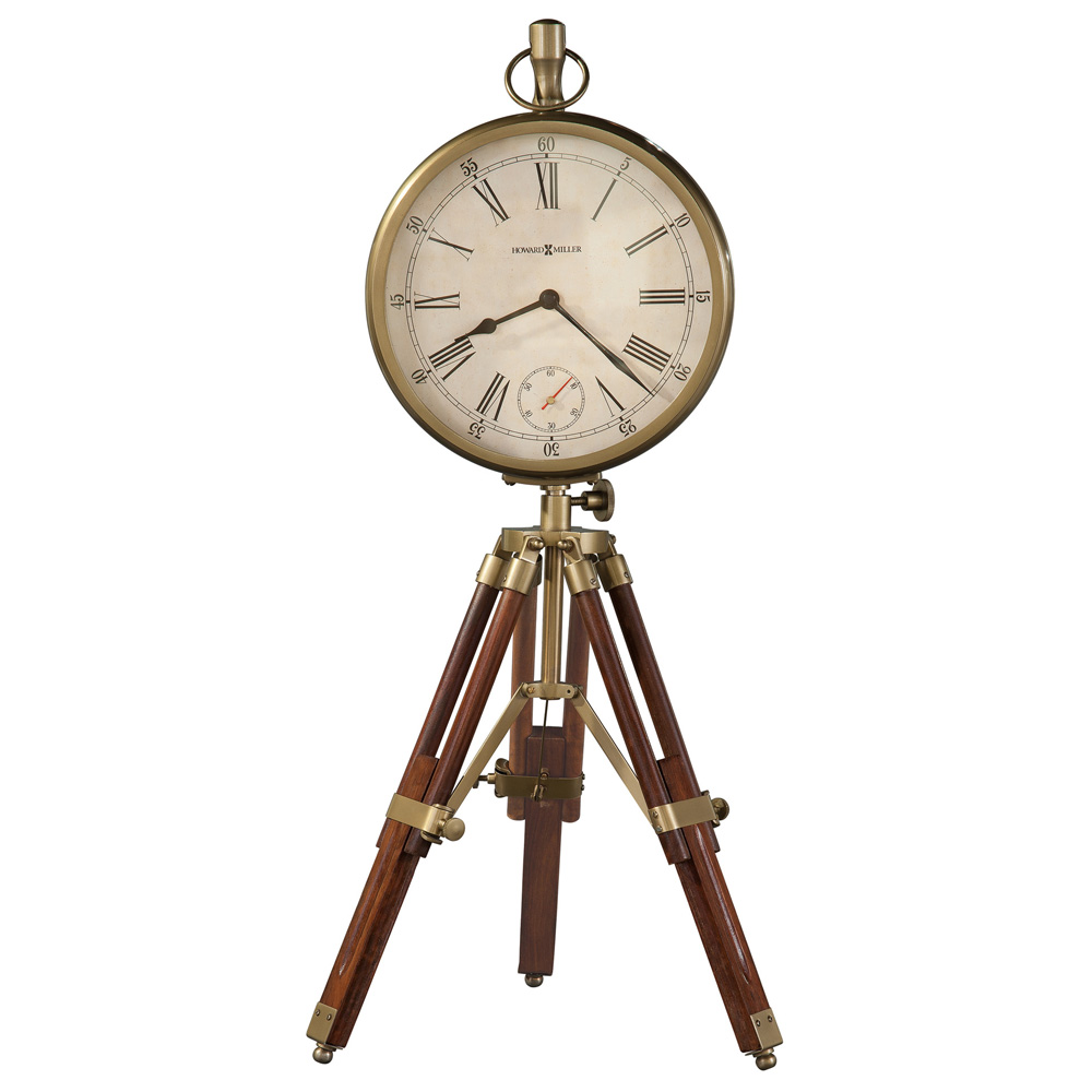 time surveyor tripod mantel clock howard miller