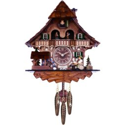 Musical Cuckoo Clock with Dancers, Waterwheel, Beer Drinker 830-13QM