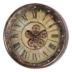 "Corbet's Moving Gear Wall Clock - 23"" Copper 41163"