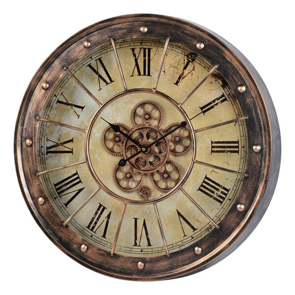Corbet S Moving Gear Wall Clock 23 Quot Copper 41163