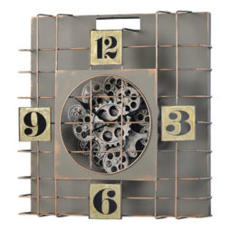 "Gibson 20"" Moving Gear Square Wall Clock - 41108"