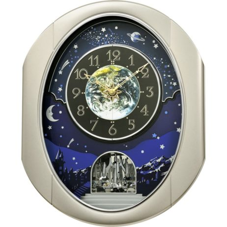 Rhythm Peaceful Cosmos II Musical Clock 4MH408WU19