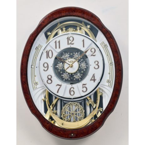 Woodgrain Marvelous Magic Motion Musical Clock Rhythm 4MH412WU23